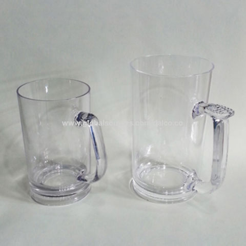 Taiwan Unbreakable Tritan Acrylic Plastic BPA-free PC Customized Crystal Clear Shatter-proof Beer Mug Set