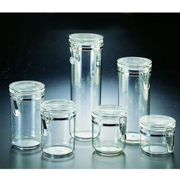 Taiwan Unbreakable Crystal Clear Tritan Acrylic AS MS Seal Airtight Food Colorful Powder Storage Container