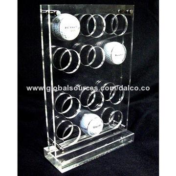 Taiwan Customized free standing acrylic golf ball display rack stand