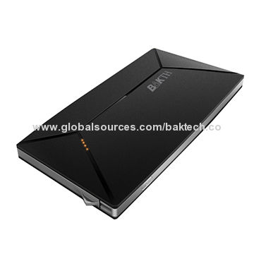 China BAKTH 10,000mAh Li-polymer Potable Power Bank for iPad, Tablets, MP3/MP4 & Smartphone Batteries