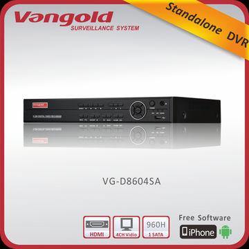 China 4CH 960H Standalone DVR, 2CH 960H Playback, Hi3515A Chipset, RS485, HDMI and PTZ, 1 SATA HDD