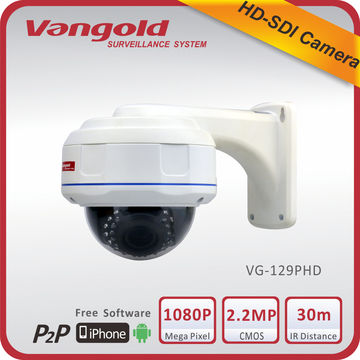 China Vandal-proof HD-SDI Camera 1080P, 2.2 Megapixel CMOS,IR Distance 30 Meters, 2.8-12mm Vari-focal Lens