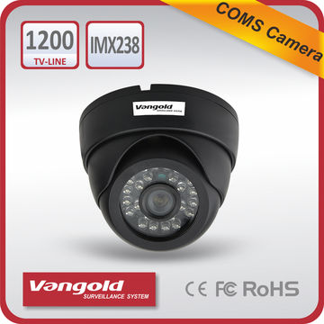 "China Dome 1200TVL CCTV Camera,1/3"" Sony CMOS IMX238+FH8520, 1200 TVL Color CCD, IR 20 Meters, Metal"