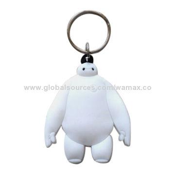 China New Hot Movie Big Hero 6 Baymax Plastic Keychain