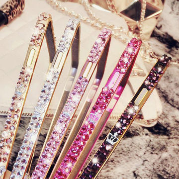 """China Zinc alloy with rhinestone bumper case for iphone 6 4.7"""", shining metal frame"""