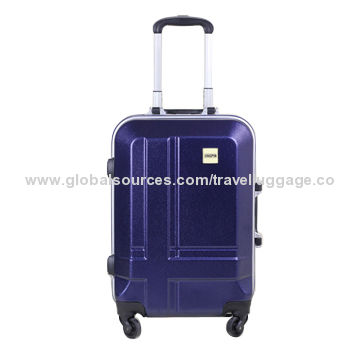 China Custom Logo PC Material Luggage Set with Aluminium Frame