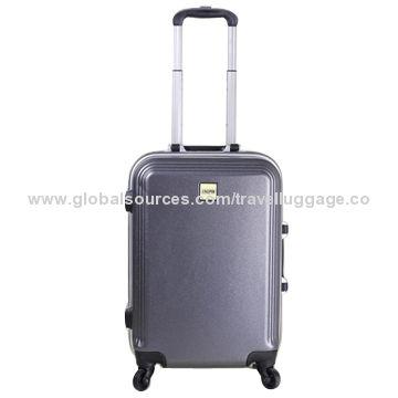 China Custom Logo PC Material Luggage Set with Aluminium Frame