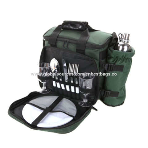 Outdoor Traveling Multifunctional Four Person Picnic Bag Set