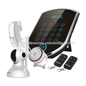 Security home system hottest WiFi / GPRS + GSM home alarm DIY wireless GSM alarms