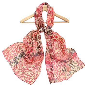 Fashion scarves, made of 100% silk fabric