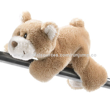 new stuffed plush cute brown lying teddy bear toys, made of soft plush and PP padding, for promo