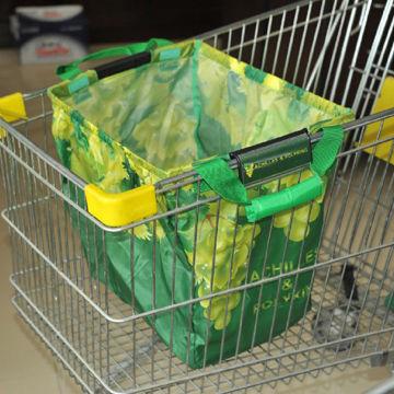 Large space foldable shopping cart bag