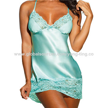 Beautiful classic and elegant in satin women's sleepwear