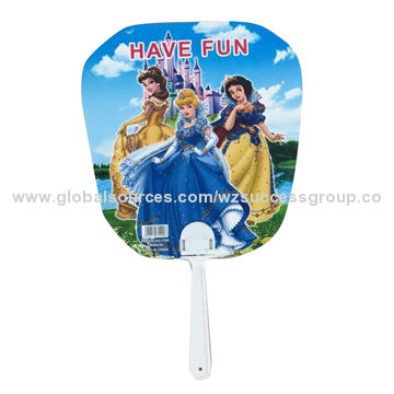 Promotional hand fans, eco-friendly PP material, customized designs and sizes are accepted