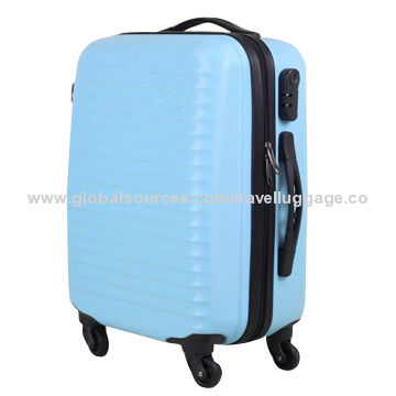China Custom pattern ABS luggage sets with 360 degree wheels