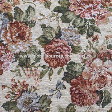 China Beauty Flower Pattern Sofa Fabric