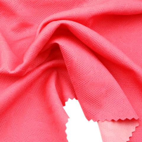 Moisture Wicking Fabric in 2-Tone Reversal Interlock Jacquard