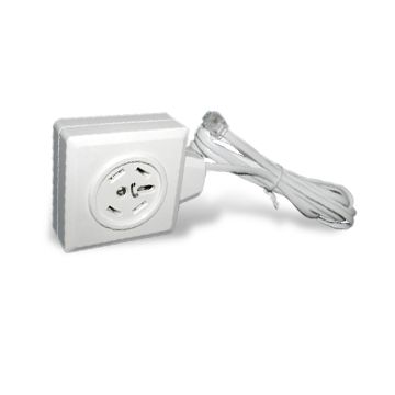 China Sweden plug and jack to US plug (break in), PVC cable outer jacket