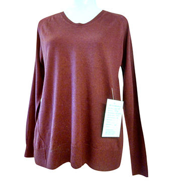 China 100%Cashmere Women Crew Neck Pullover