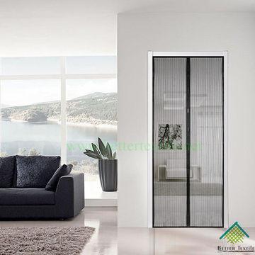 Black Magnetic Door Screen/curtain/mesh /fly Screen/magic Mesh/black