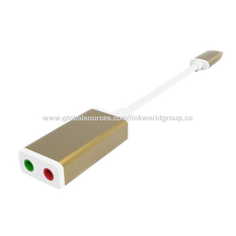 USB 3.1 type c to 3.5mm Sound Card Stereo Audio Adapter
