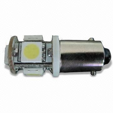 China Automotive LED Bulb with 12/24V Voltage and 30 to 50lm Luminous Flux