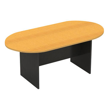 China 12-seater oval meeting table, beech/ironstone