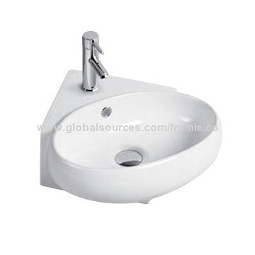 European bathroom sink with triangular sharp. European bathroom sink with triangular sharp   Global Sources