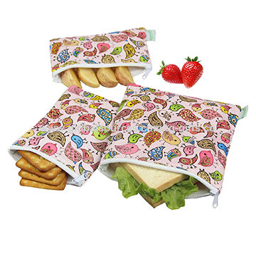 22c7661af51 Custom Printed Reusable Sandwich & Snack Bag ,Eco Friendly Dishwasher Safe Lunch  Bags