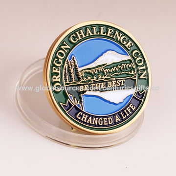 China Custom high quality gold plated challenge coin, USBG & South