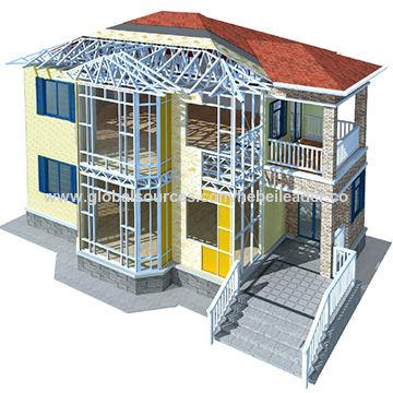 Casa prefabricada del chalet del acero ligero