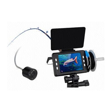 Underwater camera supporting microSD card with 50m cable and record and take pictures