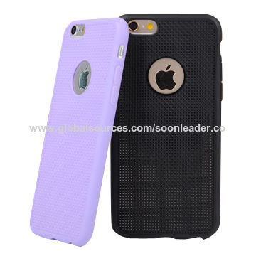 China Ultra-slim soft TPU cases with small dot hole, for iPhone 6/4.7, 5.5""