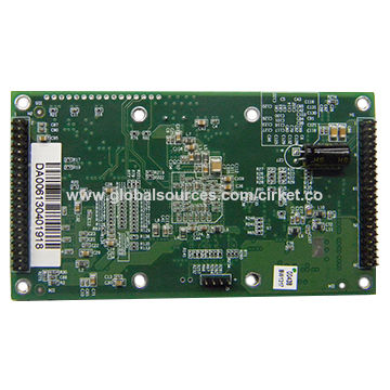 China PCB assembly, accepting SMT/DIP services, black and red solder mask