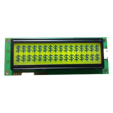 16 x 2 Characters LCM, Yellow-green Backlight