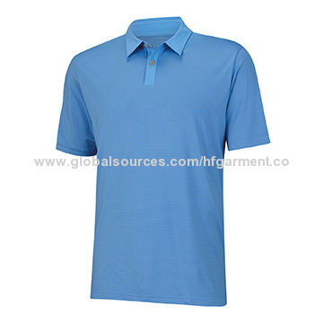 Cheap dri-fit polo shirt for men's made of 92% poly 8% elastane