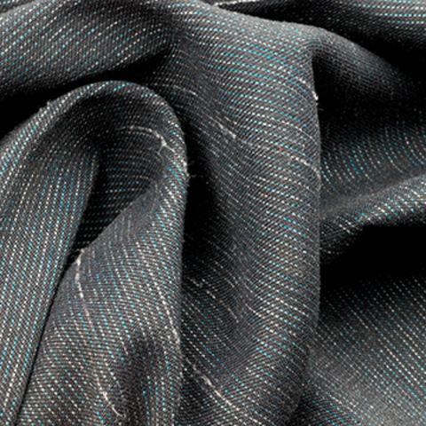 Water Repellent Fabric in Nylon Poly Spandex Slub with Warp Stretch