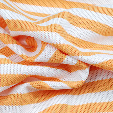 XYlitol Cooling Fabric, Print Stripe Pique Featuring 2°F Temperature Drop and UPF50+