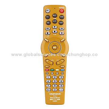 China 6-in-1 Universal Remote Control for TV/SAT/DVD/DVR/HD/AUX