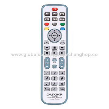 6-in-1 universal remote control with learning function