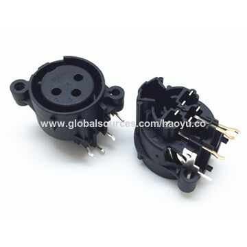 XLR Connectors with 50V DC 0.5A Rated Load and 1500 cycles Lifespan
