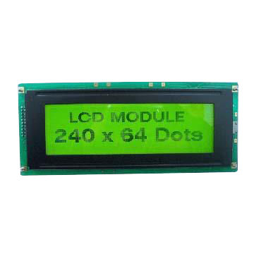 STN Yellow 240*64 Graphic LCD Module with LED Backlight