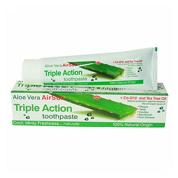 China Aloe Vera Airsun (Whitening) Toothpaste with 100mL Volume, Available in Crystal Color