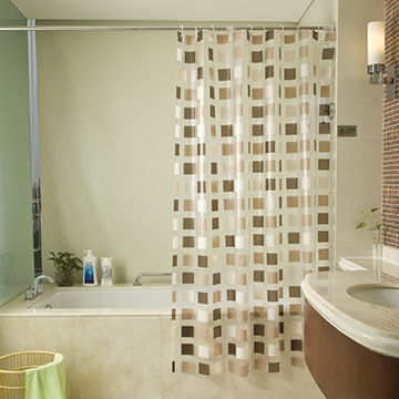India Bathroom Waterproof Shower Curtain