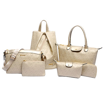 PU leather handbags, colorful PU Europe set styles with high-capacity strong handle ,OEM ODM welcome