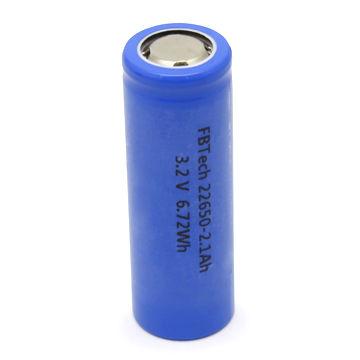 LiFePO4 batteries 22650-2100mAh 3.2V battery cell factory