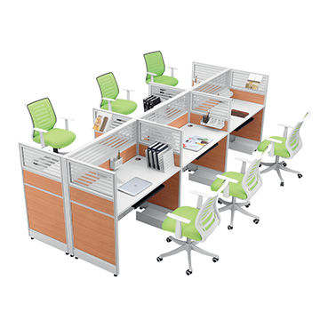 China Modern Office Furniture Partitions Workstation Cubicles For Six People