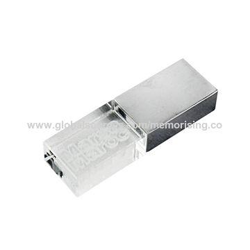 Hong Kong SAR Promotion Crystal USB Flash Drive with Customized 3D Logo