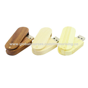 Hong Kong SAR Popular Gift USB/Eco-friendly Wooden Swivel USB Flash Drive in Customized Logos