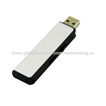 Hong Kong SAR Promotional Retractable USB Flash Drive, Customized Logos are Accepted